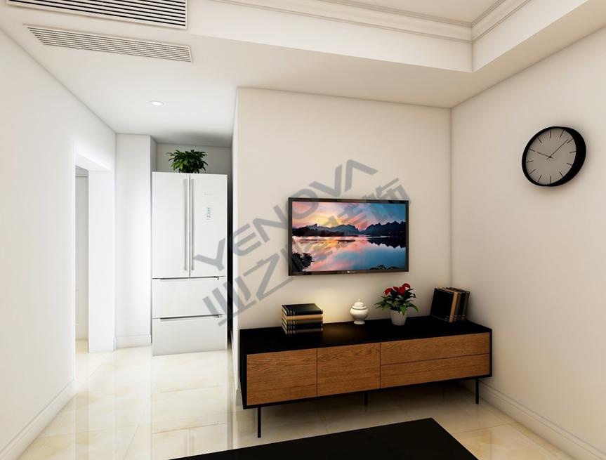 客厅装饰效果图——业之峰装饰二室一厅68平米简约风格