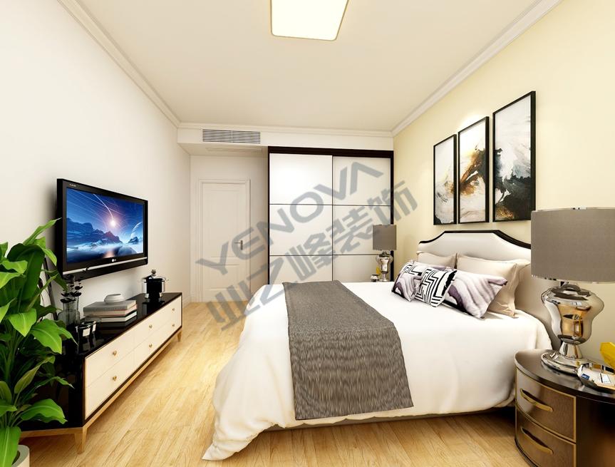主卧装饰效果图——业之峰装饰二室一厅68平米简约风格