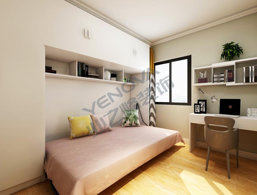 次卧装饰效果图——业之峰装饰二室一厅68平米简约风格