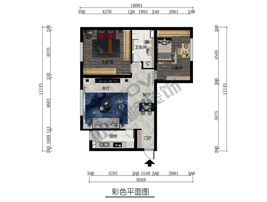 北京业之峰设计师_新中式风格两室两厅160平米房子装修效果图-K2玉兰湾-业之峰装饰 ...